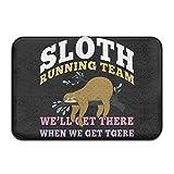 I 'm Not Lazy Faultier Running Team Soft Fußmatte ENTRANCE Mat Fußmatte/Front Tür/Bad-Teppich Matten Gummi rutschfeste, Mikrofaser Gummi, weiß, Einheitsgröße