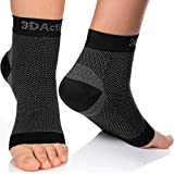 3DActive Plantar Fasciitis Compression Foot Sleeves for Men & Women – Best Socks with Arch Support for Ankle, Heel and Foot Pain Relief. Improve Circulation & Recovery for Runners & Everyday use. ((1 Pair) Black, S/M)