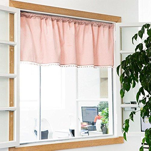 Silk Road japanische Volants Stoff Tür Jalousien Partition Vorhang Maiden Dekoration Vorhänge Fenster blockieren Behandlungen für Wohnheim Schrank Schlafzimmer Küche - Rosa 143 x 60 cm (56 x 24 Zoll) (Jalousie-schrank-türen)