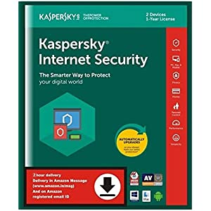 Kaspersky Internet Security 2 Users, 1 Year (Single Key) (Code emailed in 2 Hours – No CD)