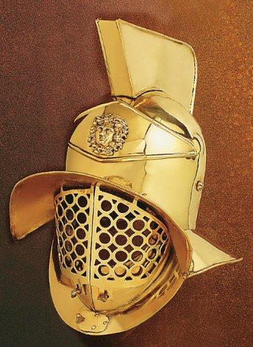 Battle-Merchant Gladiatoren Helm Pompeji, Messing - Gladiatorenhelm - Römer