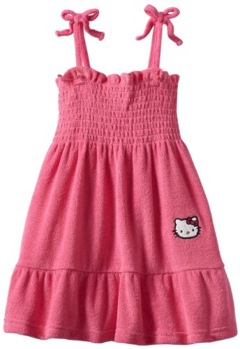 Hello Kitty Terry Sundress Pink (12M, Pink) (Up Beach Terry Cover)