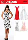 New Look 6670 Schnittmuster für Damenkleider, Größe A, mehrfarbig