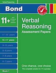 Bond Verbal Reasoning Assessment Papers 10-11+ years Book 1