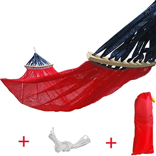 DIAOHXY Atmungsaktive Ultraleichte Portable hängematte,Nylon 600lbs Tragfähigkeit Super leichtes-Rot (600 Lb Hängematte)