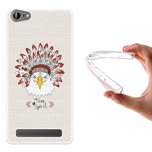 WoowCase Doogee Y200 Hülle, Handyhülle Silikon für [ Doogee Y200 ] Adler- freier Geist Handytasche Handy Cover Case Schutzhülle Flexible TPU - Transparent