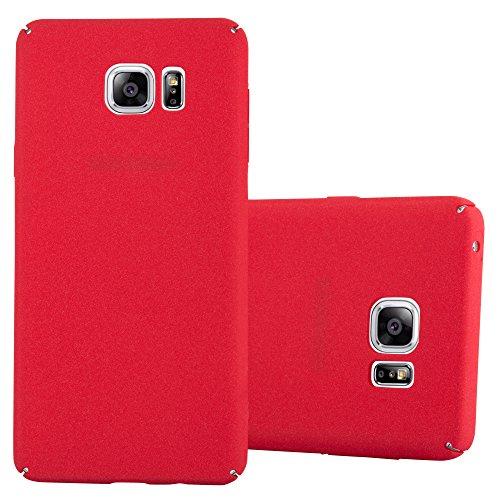 Preisvergleich Produktbild Cadorabo Hülle für Samsung Galaxy Note 5 - Hülle in Frosty ROT - Hardcase Handyhülle im matten Frosty Design - Schutzhülle Bumper Back Case Cover