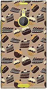 The Racoon Lean printed designer hard back mobile phone case cover for Nokia Lumia 1520. (Chocolate)