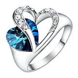 Yoursfs Blau Saphire Kristall Ringe