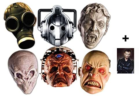 Doctor Who Monsters Halloween Masque en carton de 2D paquet