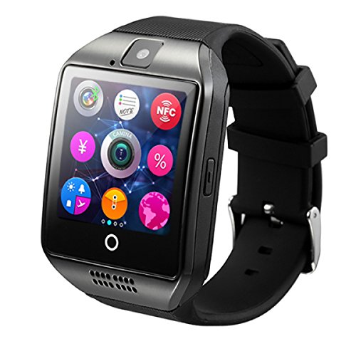 WMWMY Support 2G-GSM-Sim-Karte Uhr Smart Kamera Audio Fitness Android Smartphone Smart Smart Watch Watch Smart Watch, Schwarz Casio-audio
