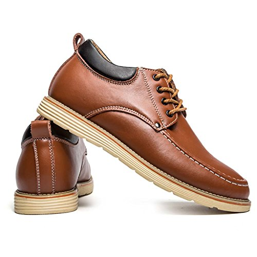 ZXCV Chaussures de plein air Men Business casual wine chaussures en cuir rouge fashion avant le groupe avec des chaussures hommes accrues ( Couleur : Marron clair , taille : 42 ) Marron clair