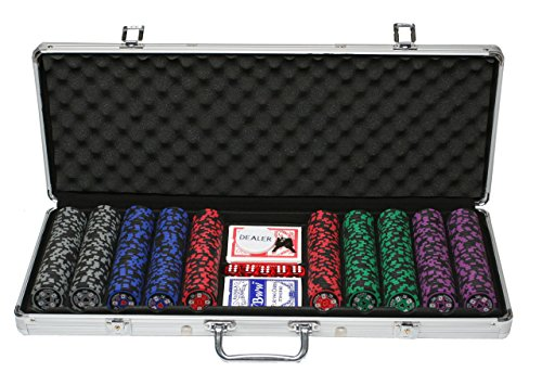 OMADA DT 40086 500 Chips CASINO GAME SET CLAY CHIPS