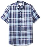 Photo de Amazon Essentials Regular-fit Short-Sleeve Plaid Linen Shirt Homme par Amazon Essentials