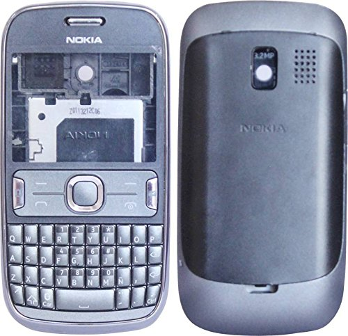 Nokia Asha 302 New Replacement Body Housing Front & Back Panel (Grey)- ROKK'  available at amazon for Rs.449