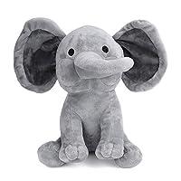 JoyJay Baby Elephant Soft Plush Toy Children Stuffed Soft Pillow Kids Comfort Doll Grey 23cm Novelty Gift Home Decoration