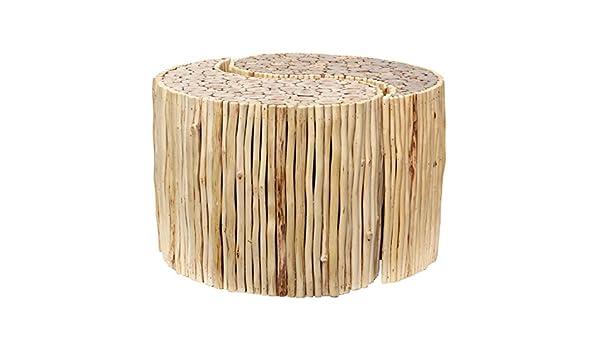 Sgabello in legno rotondo set sgabello pouf yin yang circa 70 cm