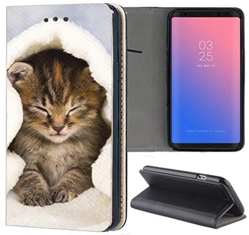 Hülle für Huawei Mate 10 Lite Handyhülle aus Kunstleder Motiv 1003 Katze Katzenbaby Kätzchen Handyhülle Flipcover Schutzhülle Cover Handy Case Hülle für Huawei Mate 10 Lite