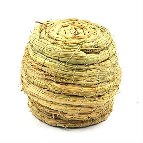 Ldreyf nido di uccello naturale di paglia fatto a mano/piccione uccello casa pappagallo nido caldo animale domestico camera da letto cortile gabbie per uccelli ornamento  come mostrato