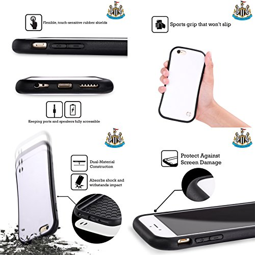 Ufficiale Newcastle United FC NUFC Mohamed Diamé 2017/18 Giocatori Away Kit Gruppo 2 Case Ibrida per Apple iPhone 6 / 6s Isaac Hayden