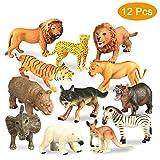 Estela Figuras Animales, 12 PCS Mini Selva Conjunto de Juguetes...