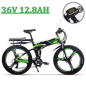 51%2ByJwMKhkL. SS300  - eBike_RICHBIT 860 Men Folding Electric Bike 17 X 26 Inch Mountain Bike Full Suspension 250 W 36V 12.8AH ebike