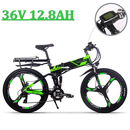 51%2ByJwMKhkL. SS500  - eBike_RICHBIT 860 Men Folding Electric Bike 17 X 26 Inch Mountain Bike Full Suspension 250 W 36V 12.8AH ebike