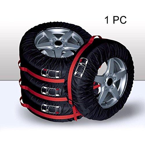 PURATEN Ersatzrad, Auto Polyester Garage Tire Schutzhülle mit Handschlaufe, Winter Sommer Reifen Aufbewahrungstasche Auto Reifen zubehör Wheel Displayschutzfolie, 1Stück, Large
