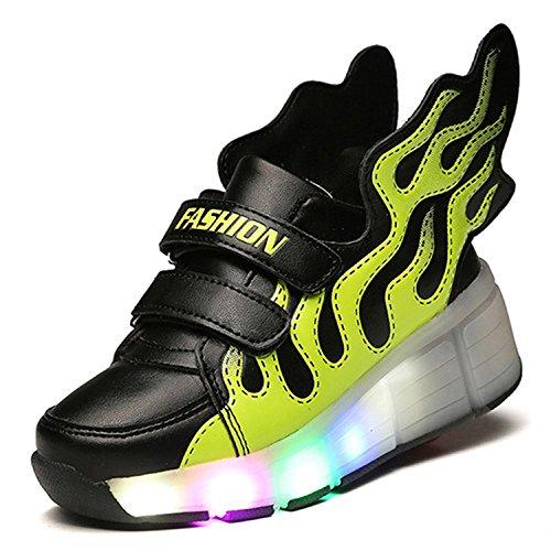 ECOTISH Estilo ala Negra y Verde con LEDs