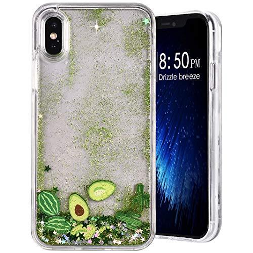 Für Iphone XS Hülle, Für Iphone X Kreative Flüssigkeit Fluid Transparent Cover Schutz Movediza Sand Stoßstange Hart Rand Weich Bumper Für Handy Apple Für Iphone X/XS 3# -