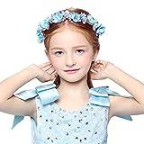 dressfan diadema de guirnalda de flores con cinta ajustable boda nupcial damas de honor niñas Headwear