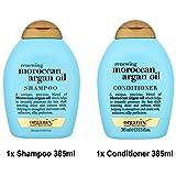 ogx® (ehemals Organix) Renewing Argan Oil of Morocco SHAMPOO 385ml + CONDITIONER/ SPÜLUNG 385ml - Profistyle, Haarshampoo & Conditioner aus den USA