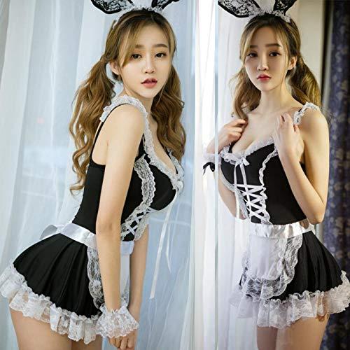 Sexy Dessous Damen Uniform Hase Katze Spitze Mädchen Mädchen Kostüm niedliche Spitze Dienstmädchen Anzug