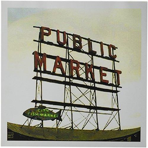3drose Public Market Seattle–Grußkarten, 15,2x 15,2cm, Set 12(GC 14265_ 2)