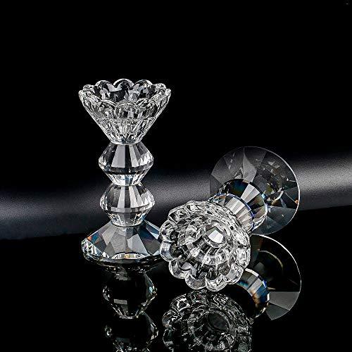 äulen-Kristallkerzenhalter für Hochzeits-Mittelstücke-Tischdekor ()