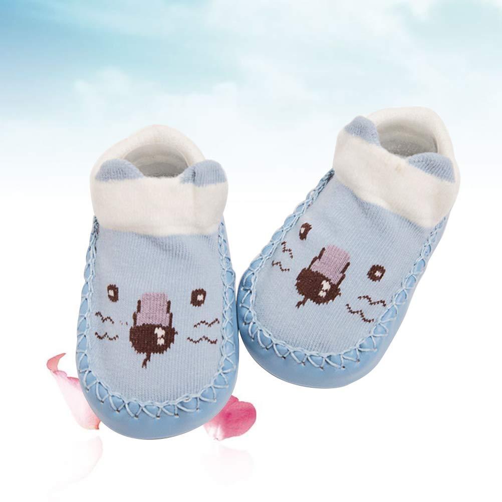 Cute Unisex Baby Kids Toddler Girls Boys Anti-Slip Socks Shoes Slipper Gifts New