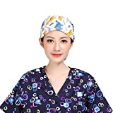 FENICAL Chapeau Gommage Chapeau Chirurgical Docteur en médecine Infirmière Chapeau Bouffant pour Femmes