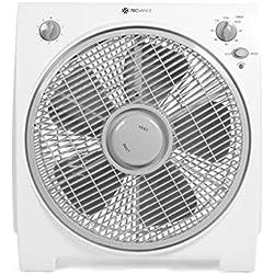 Airbient Tecvance - Ventilateur Box - 4 Puissance de ventilation - Minuterie jusqu'à 2h - Parfait pour le Bureau - testé GS