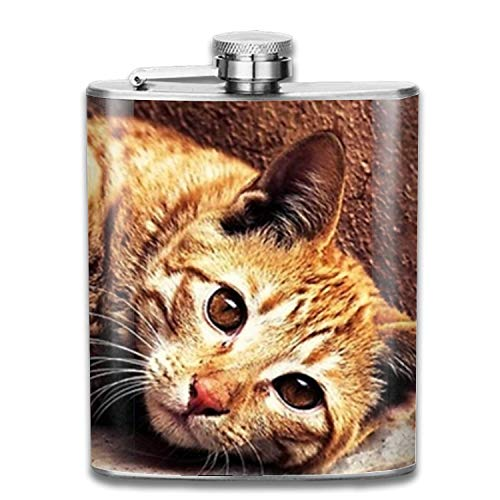 sghshsgh Flachmann Edelstahlflaschen Personalized Custom Halloween Scared Mouse Stainless Steel Hip Customizable Flask 7OZ Outdoor Portable small hip Flask Safe and Leak-Proof (Wodka-drinks Für Halloween)