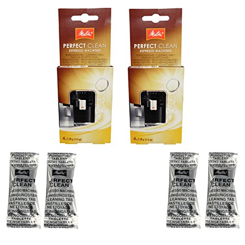 2er Pack Melitta Perfect Clean Kaffeevollautomaten Inhalt 4 Tabs à 1,8g - 1500791 -