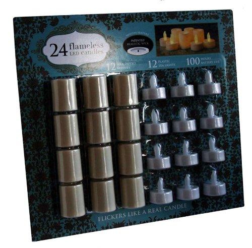 Northern internationalen Flamless 24 Led Beleuchtung Candle Votivkerze & Tee-Set (Northern International-kerze)