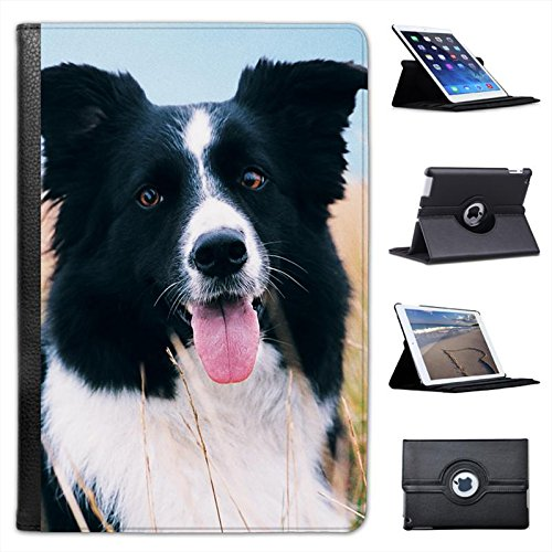 border-collie-dog-sitting-in-field-for-apple-ipad-mini-ipad-mini-retina-leather-folio-presenter-case