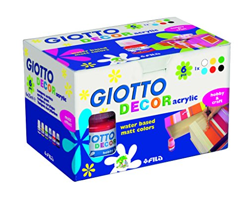 Giotto 538200 - 6 Flaconi Decor Acrylic 25 ml