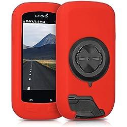 kwmobile Funda para Garmin Edge 1000 / Explore 1000 - Carcasa de [Silicona] para GPS - Cover para GPS de Bicicleta en [Rojo]