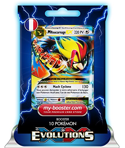 MEGA ROUCARNAGE EX 65/108 220PV XY12 EVOLUTIONS - Booster de 10 cartes Pokemon francaises my-booster