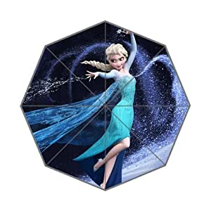 Frozen Anna Elsa Olaf Marshmallow Funny Guys Custom Cool Design Portable Fashion Foldable Umbrella (Style 01)