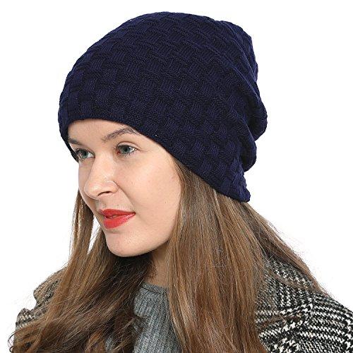 DonDon Damen Beanie Mütze Wintermütze Slouch Style mit sehr weichem und angenehm zu...