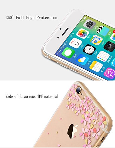 Crystal Chiaro Shell Skin per iPhone 6, MAOOY Colorato Carino Quadri Cassa Ultra Fine Fit Back Case per iPhone 6s, Cancella Anti Slip Morbida Jelly Rubber Protettivo Cassa del Respingente per 4.7 App Banana