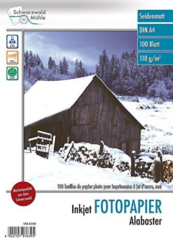"""Schwarzwald Mühle Inkjet-Drucker-Papiere: 500 Blatt""""Alabaster"""" matt 110 g/m²A4 (Druckerpapier)"""
