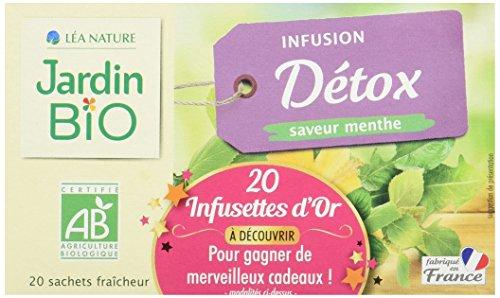 Jardin BiO Infusion Détox 20 Sachets 30 g - Lot de 4